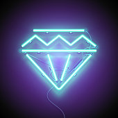diamond signboard blue