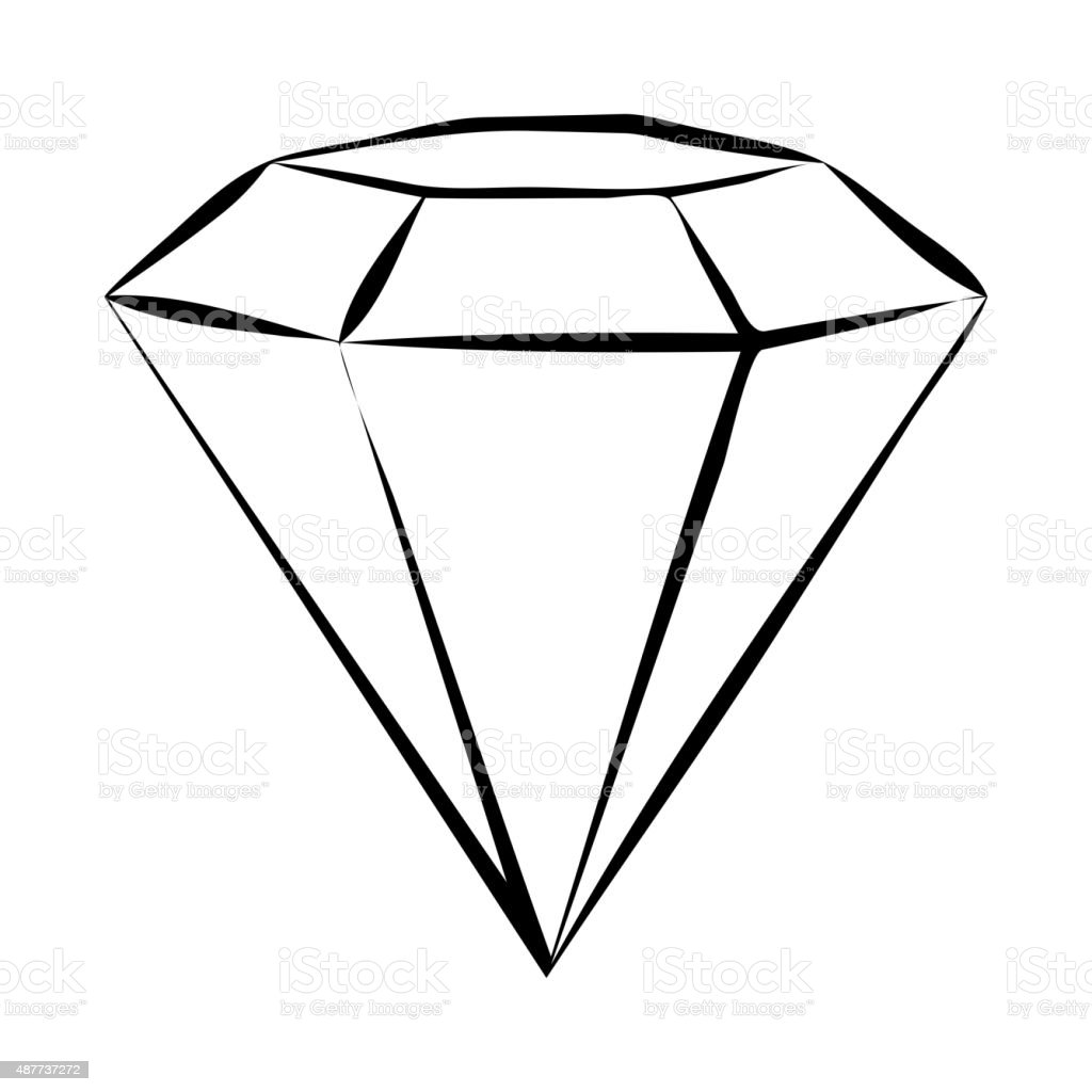 diamond skech stock vector art more images of 2015 487737272 istock rh istockphoto com diamond shape vector free download diamond shape vector free download