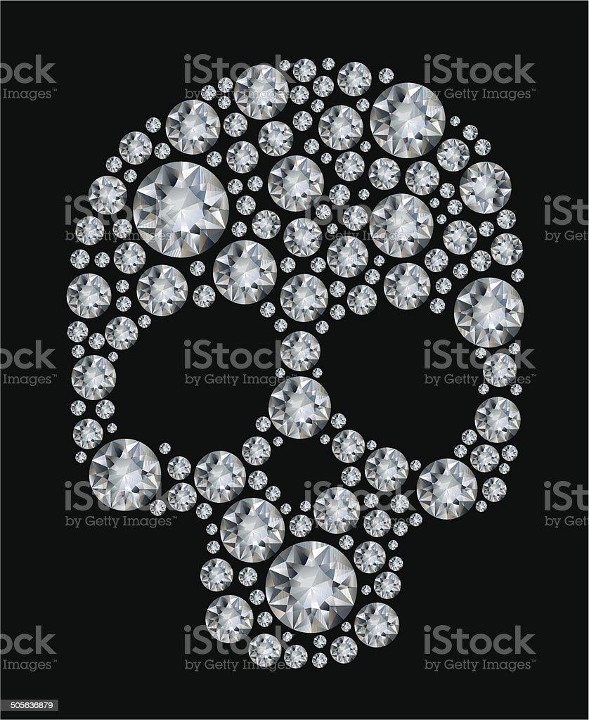 Diamante Sobre Fondo Negro Cráneo - Arte vectorial de stock y más ...