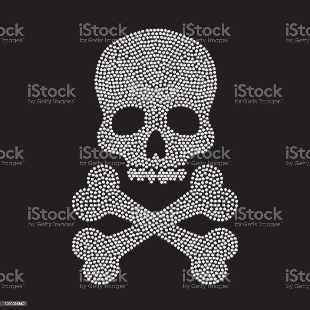Ilustración de Silueta De Cráneo De Diamante y más banco de imágenes ...