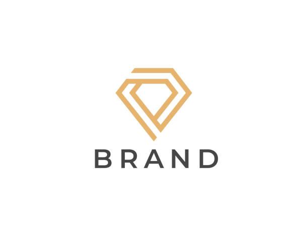 Diamond symbol. Geometric jewelry icon. Vector design template. Diamond symbol. Geometric jewelry icon. Vector design template. diamond shaped stock illustrations