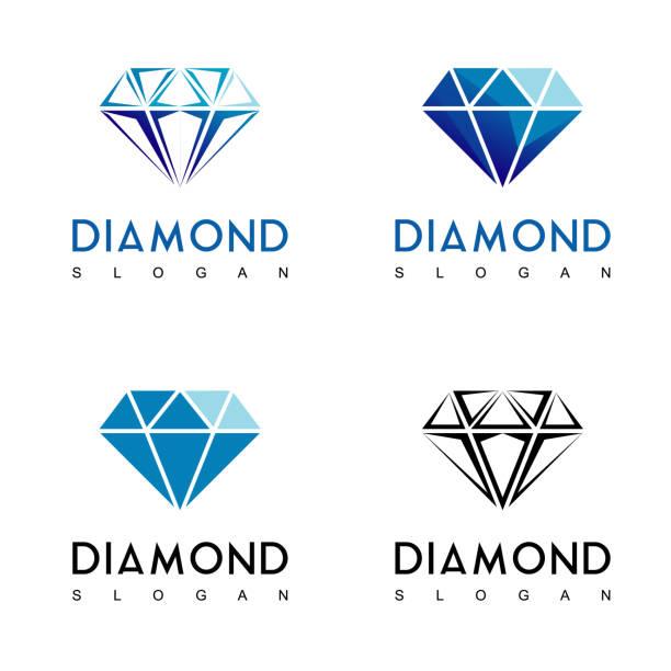 illustrazioni stock, clip art, cartoni animati e icone di tendenza di simbolo di diamante - brillante
