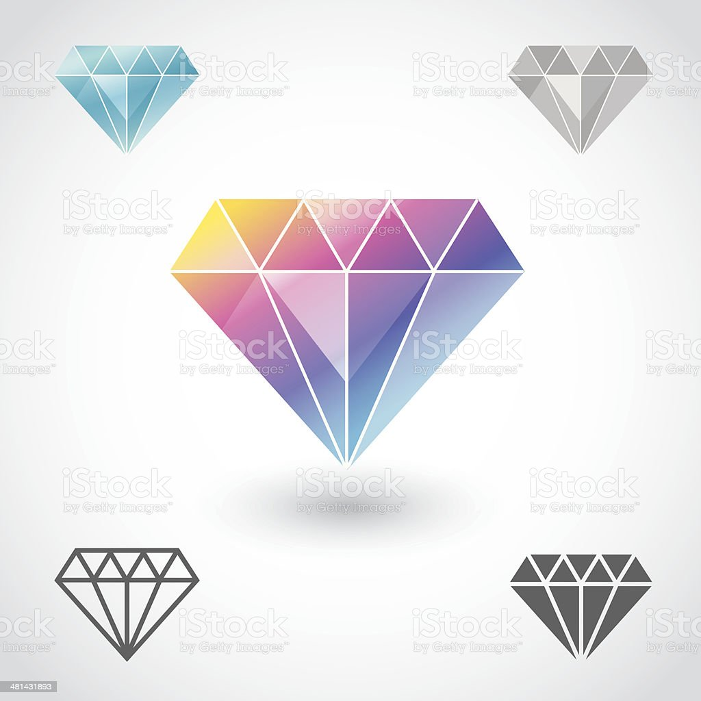 Diamond royalty-free diamond stock vector art & more images of artificial gemstone