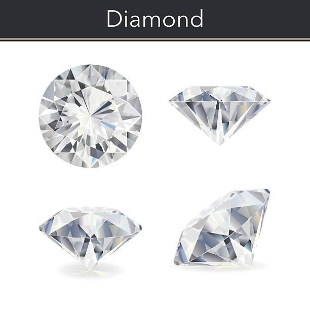 illustrazioni stock, clip art, cartoni animati e icone di tendenza di diamond - brillante