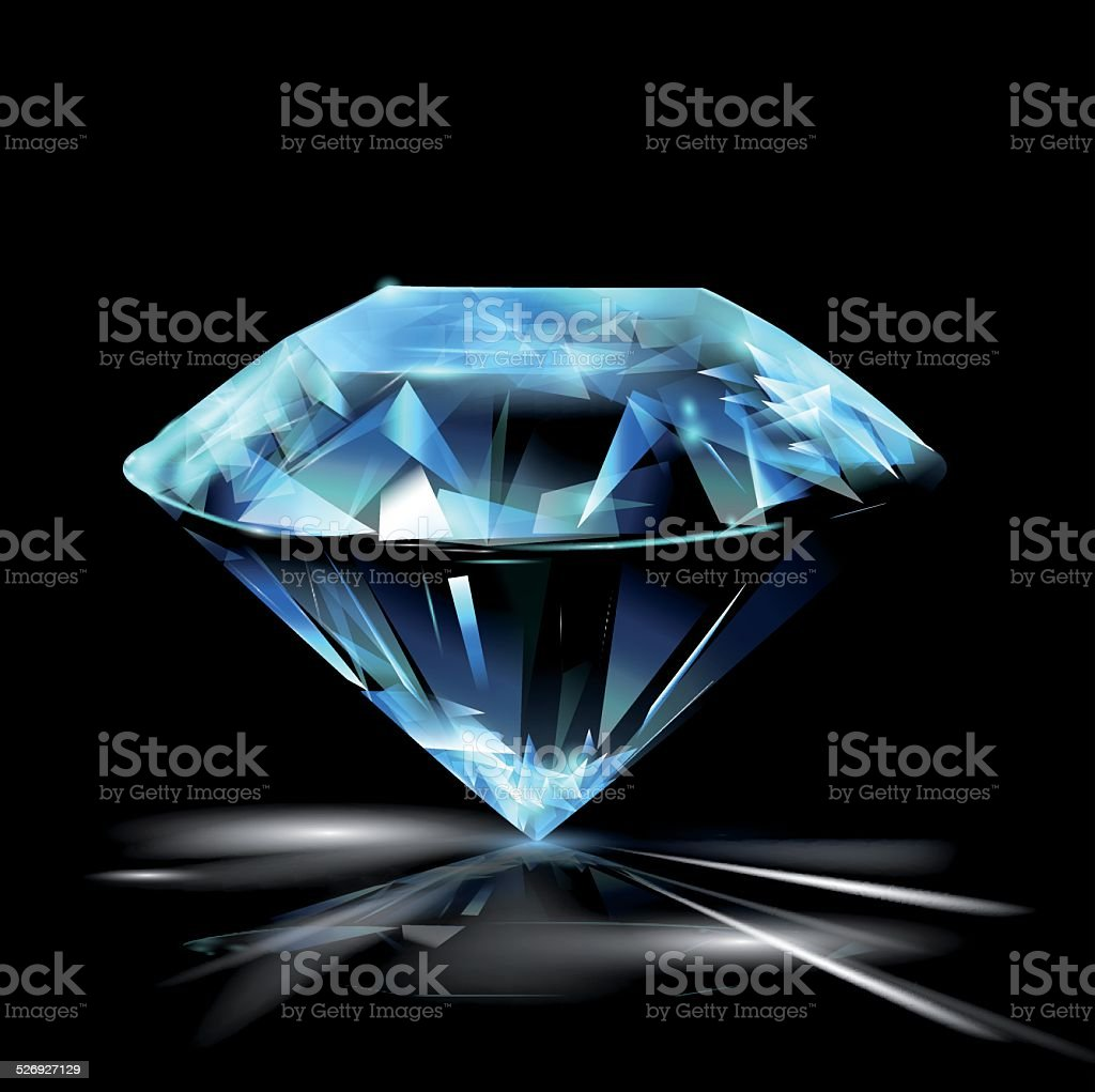 Diamond vector art illustration