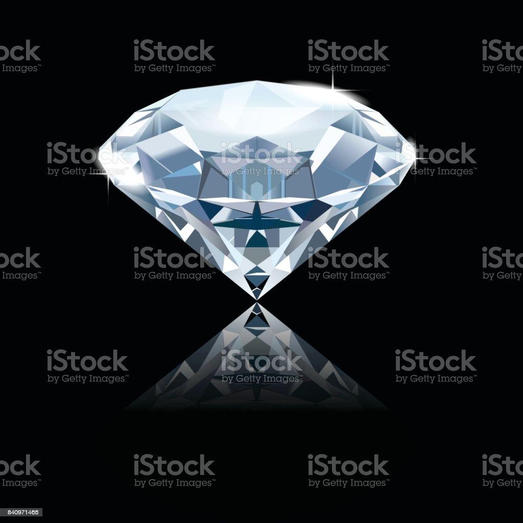 Diamond. vector art illustration