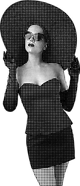 Diamonds are a girls best friend vector art illustration