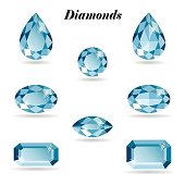 Diamonds set isolated objects