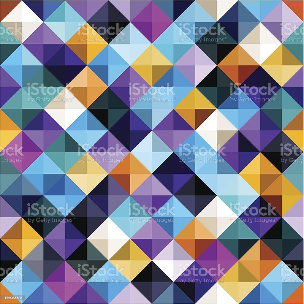 Diamond-Shaped Seamless Pattern royalty-free stock vector art
