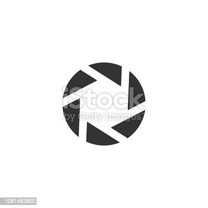 Diaphragm. Black Icon Flat on white background