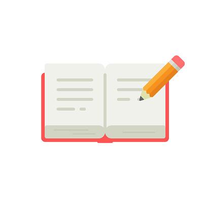 Diary Icon Flat Design.