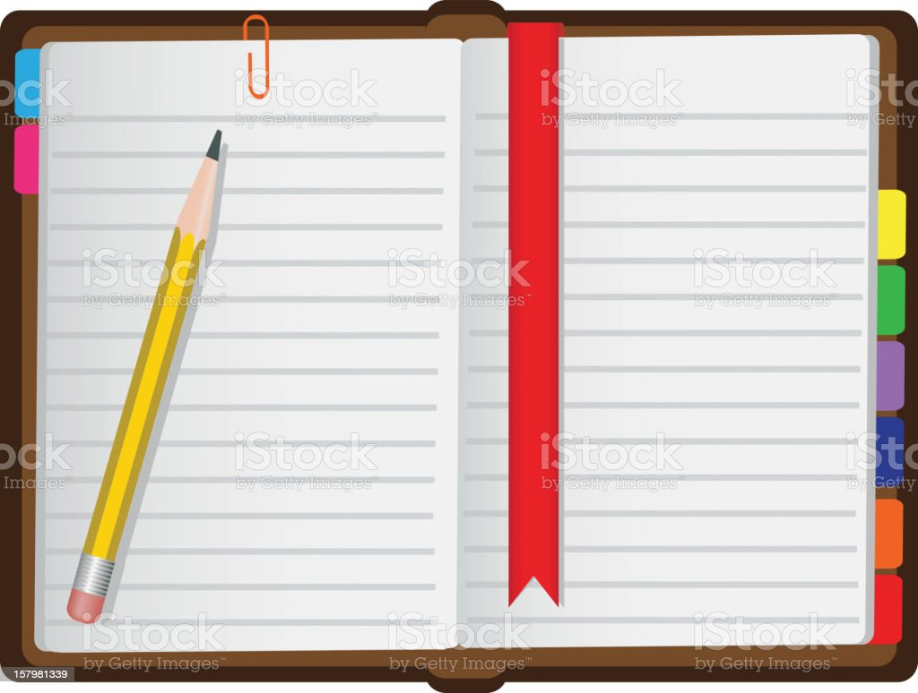 diary on a white background royalty-free stock vector art