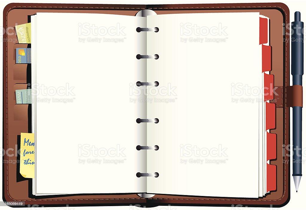 Diary personal organiser royalty-free stock vector art