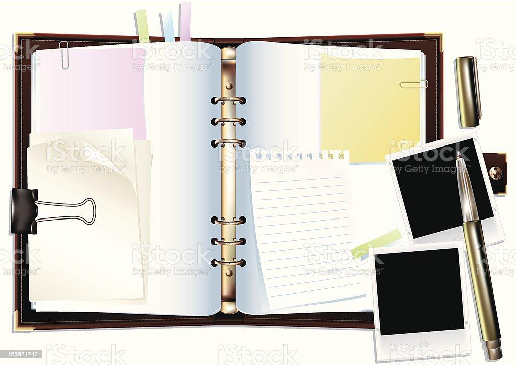 Diary royalty-free stock vector art