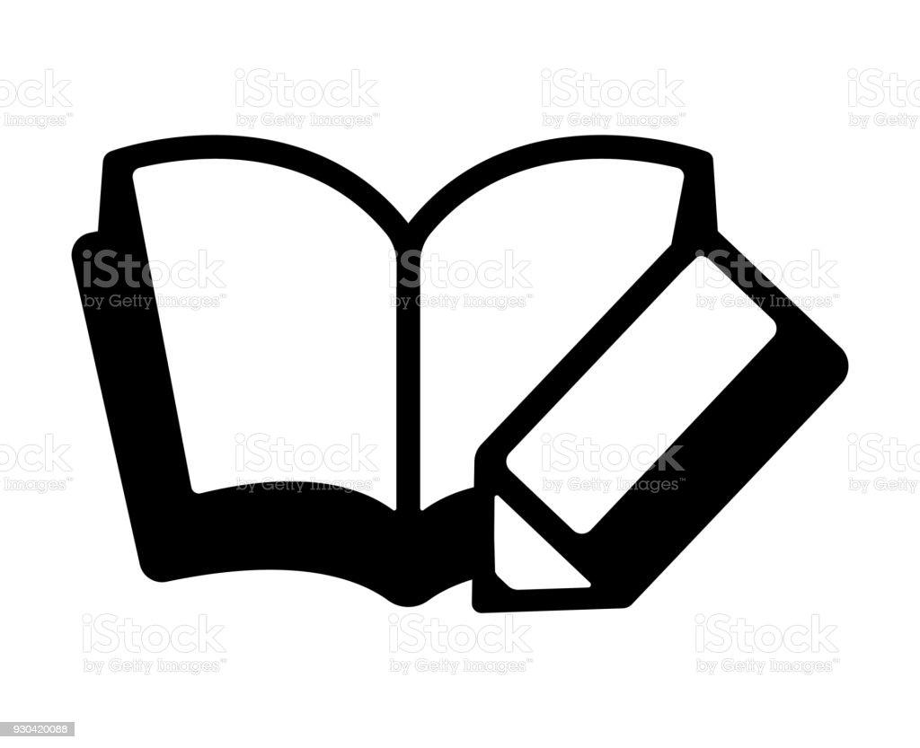 Tagebuchlehrbuchnotebook Symbol Stock Vektor Art und mehr Bilder von ...