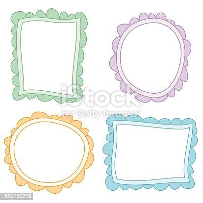 istock Dibujos de marcos de colores 526256709