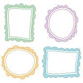 Dibujos de marcos de colores