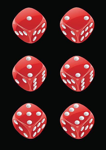 stockillustraties, clipart, cartoons en iconen met dice 24 - dobbelsteen