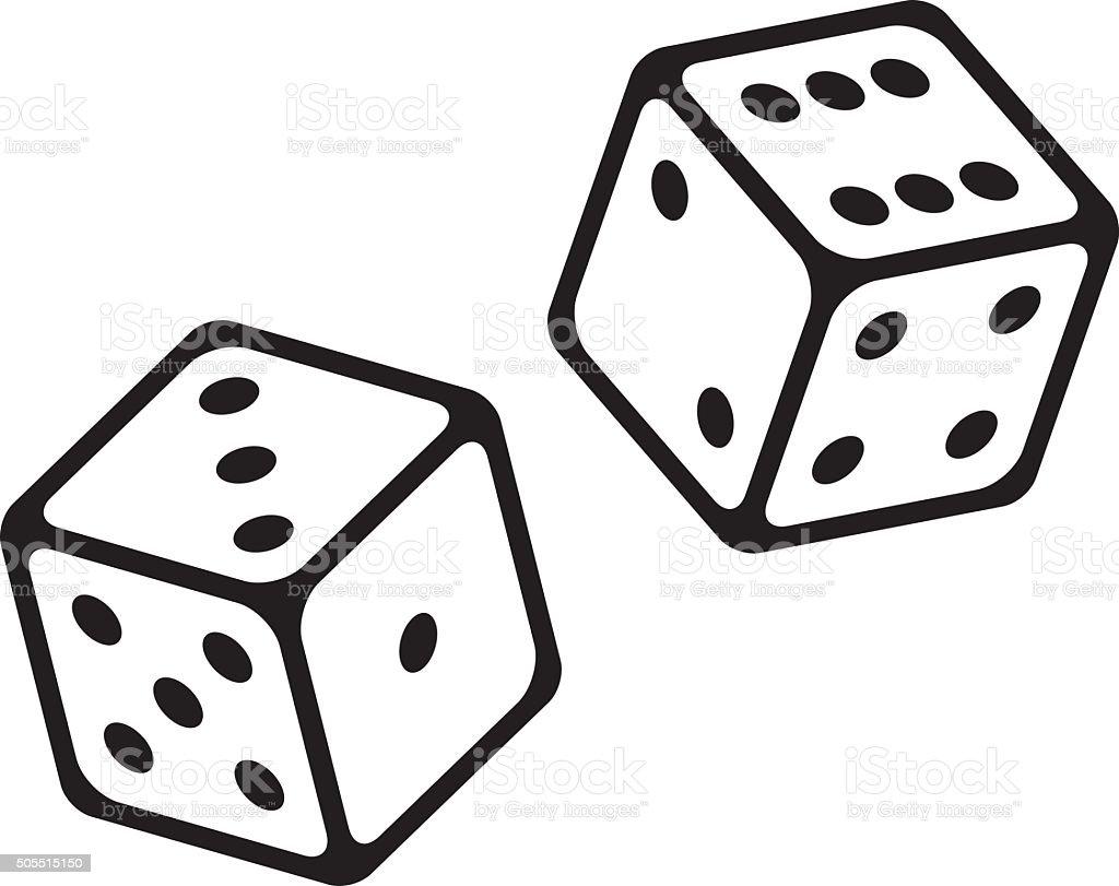 Dice Cubes Vector Icon vector art illustration