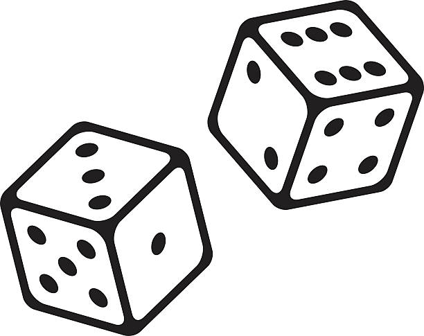 dice cubes vector icon - dice stock illustrations, clip art, cartoons, & icons
