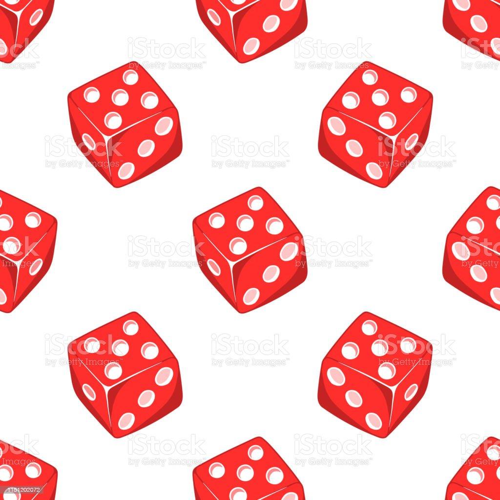 白の背景に分離された赤い立方体を持つサイコロゲームカジノのシームレスなパターンギャンブルの壁紙 3dのベクターアート素材や画像を多数ご用意 Istock
