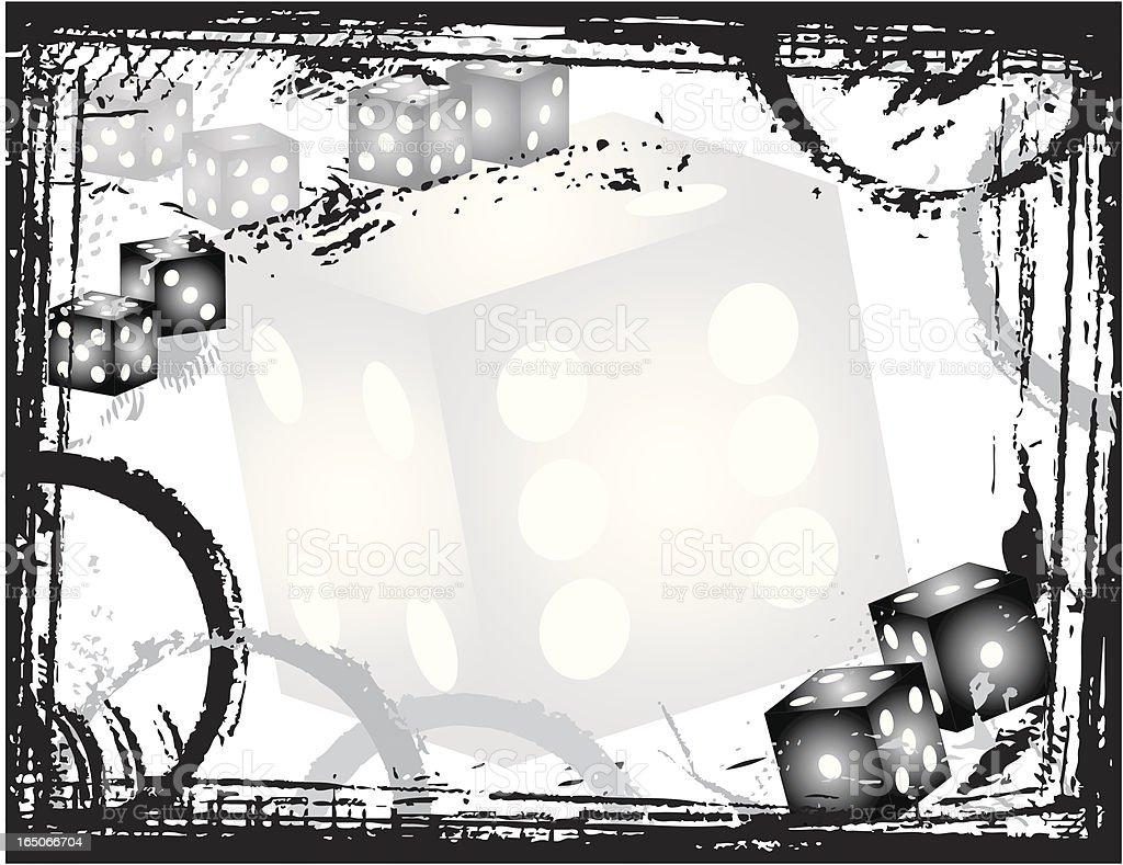 Dice Grunge Border royalty-free stock vector art