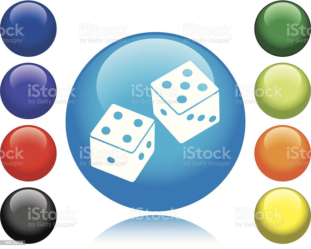 Dice Icon royalty-free stock vector art