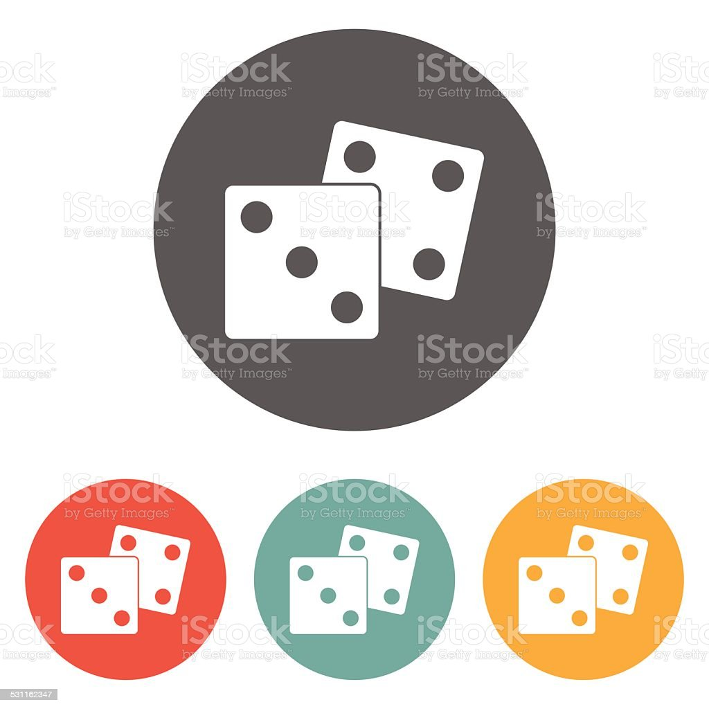 dice icon vector art illustration