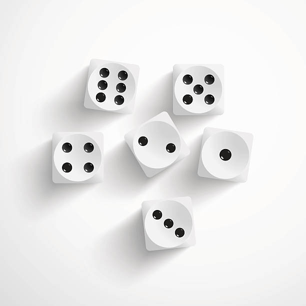 dice on white background - dice stock illustrations, clip art, cartoons, & icons
