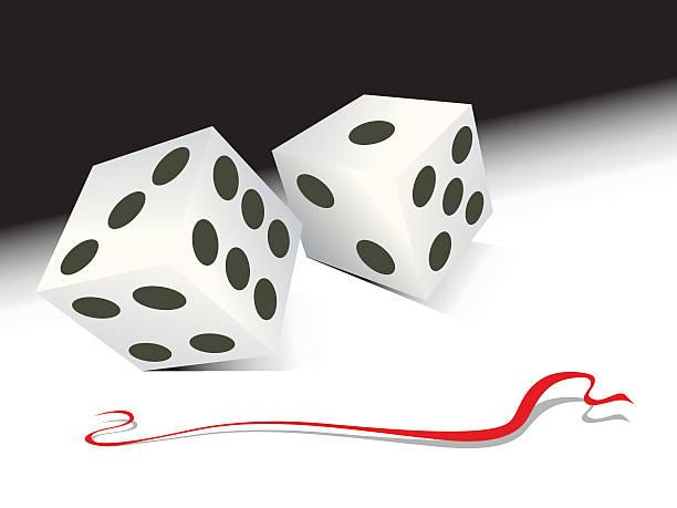 dice roll vector art illustration