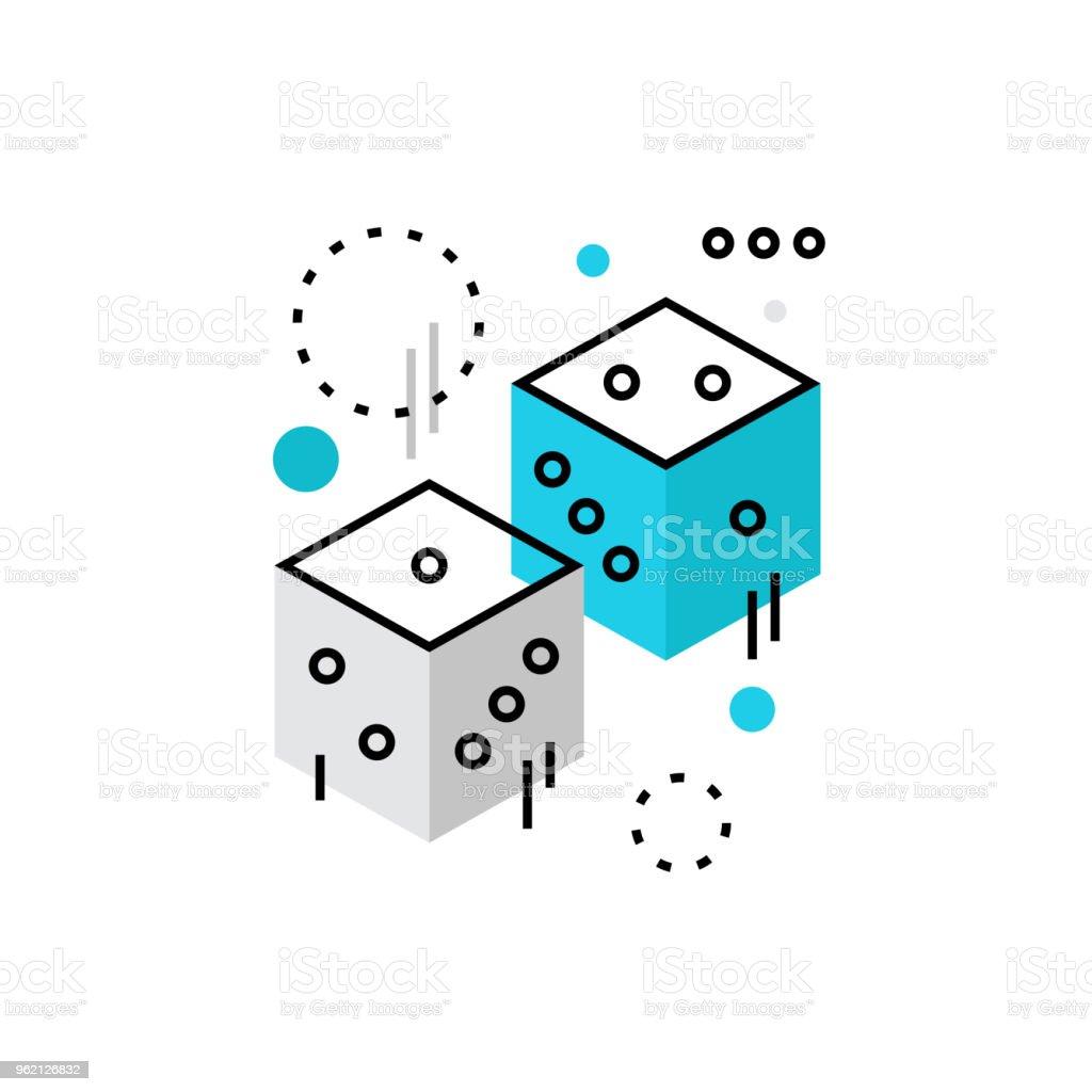 Dados rollos Monoflat icono - ilustración de arte vectorial