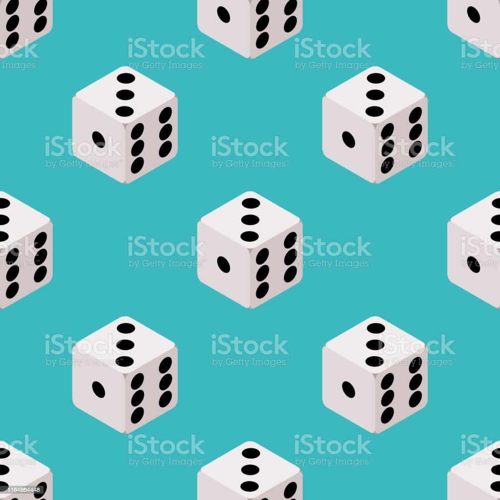 ダイスシームレスパターンボードゲーム繰り返しデザイン青い背景にキューブの壁紙カジノギャンブルの背景イラストベクトル Eps 3dのベクターアート素材や画像を多数ご用意 Istock