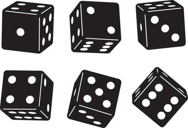illustrazioni stock, clip art, cartoni animati e icone di tendenza di dice set - gioco dei dadi
