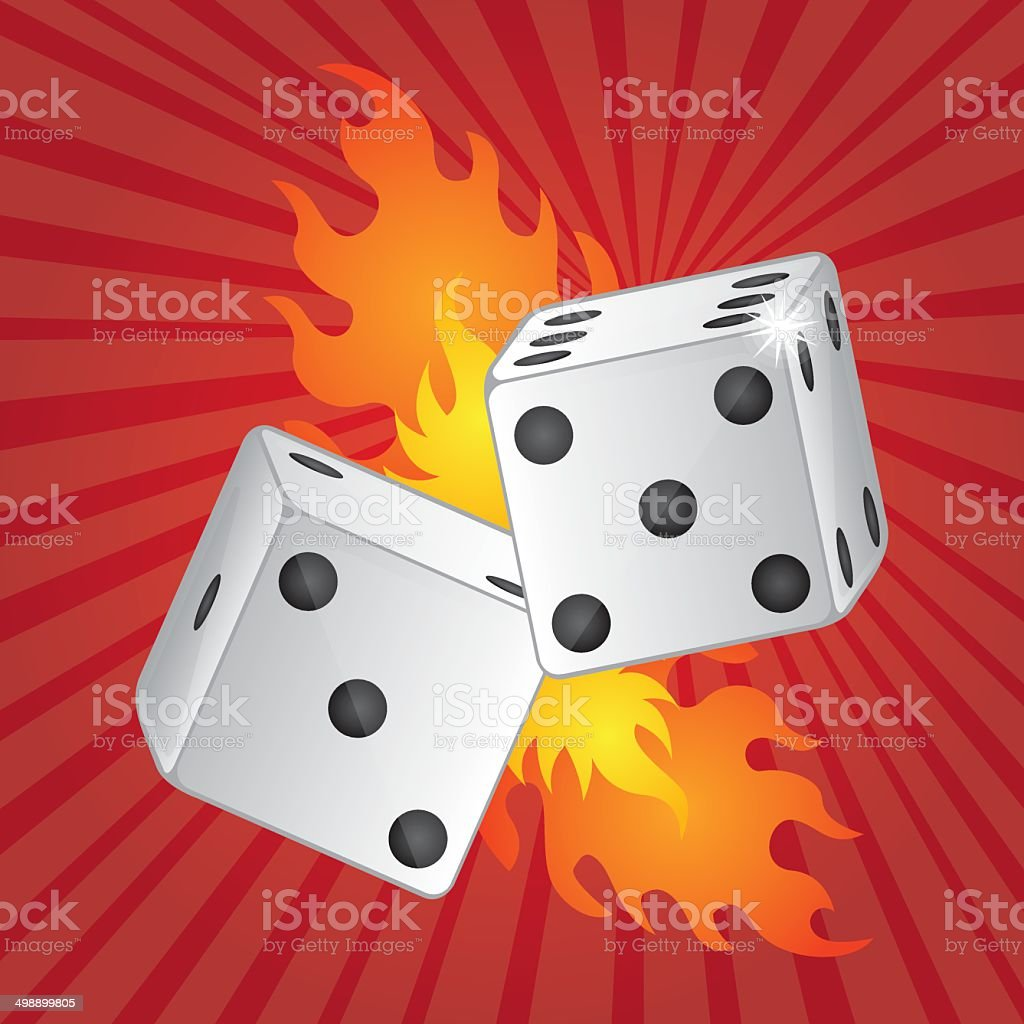 dices with fire royalty-free dices with fire stock vector art & more images of arts culture and entertainment