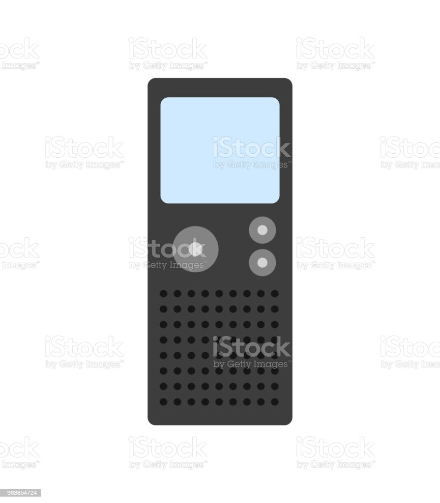 Dictaphone isolated on white background. Flat design. Vector illustration. - Royalty-free Communication stock vector
