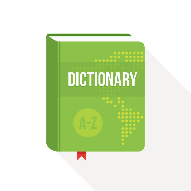 Dictionary book cover icon design. Flat style Vector illustration Dictionary book cover icon design. Flat style Vector illustration. encyclopaedia stock illustrations