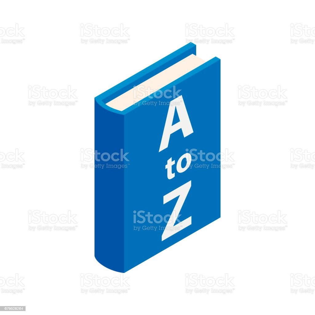 Dictionary book icon, isometric 3d style royalty-free dictionary book icon isometric 3d style stock vector art & more images of alphabet