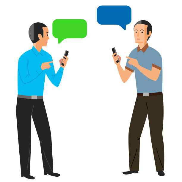 did you get my text? - russelltatedotcom stock illustrations
