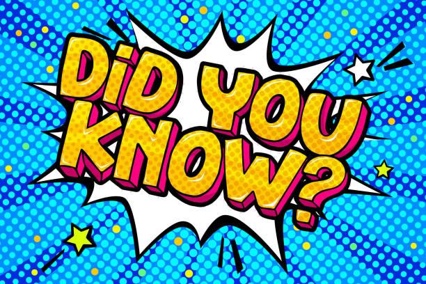 ilustrações de stock, clip art, desenhos animados e ícones de did you know in comic speech bubble on burst background. pop art style. vector illustration - músico popular