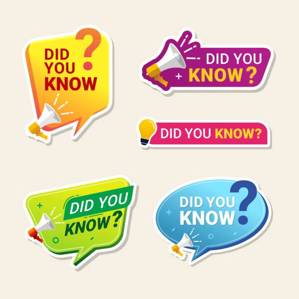 Did You Know Label banner sticker with speech bubble Did You Know Label banner sticker with speech bubble diad stock illustrations