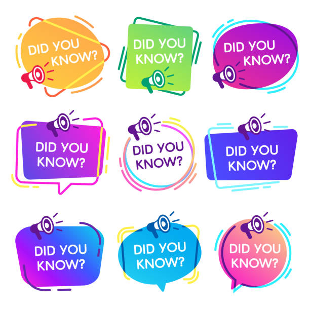 Did you know labels. Interesting facts speech bubbles, knowledge base label and social media faq banner isolated vector badges set Did you know labels. Interesting facts speech bubbles, knowledge base label and social media faq banner. Knows fact news or thinking quiz isolated vector badges isolated icons set inspirational quotes stock illustrations