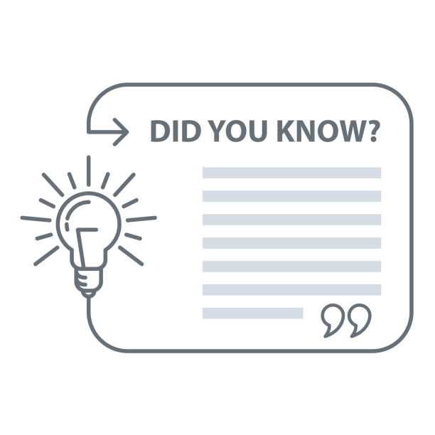Did you know quotation - speech bubble with excerpt and light bulb, marketing and advertising Did you know quotation - speech bubble with excerpt and light bulb, marketing and advertising diad stock illustrations