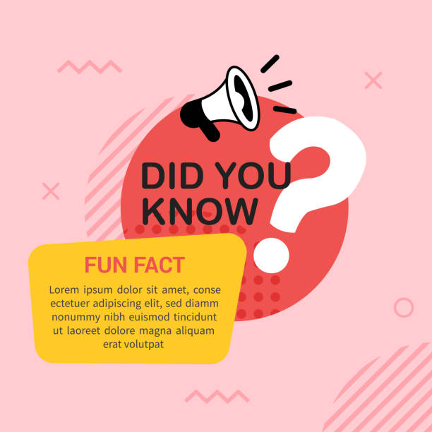 Did you know with megaphone and big question mark in flat style Creative did you know banner for education, business, marketing and advertising diad stock illustrations