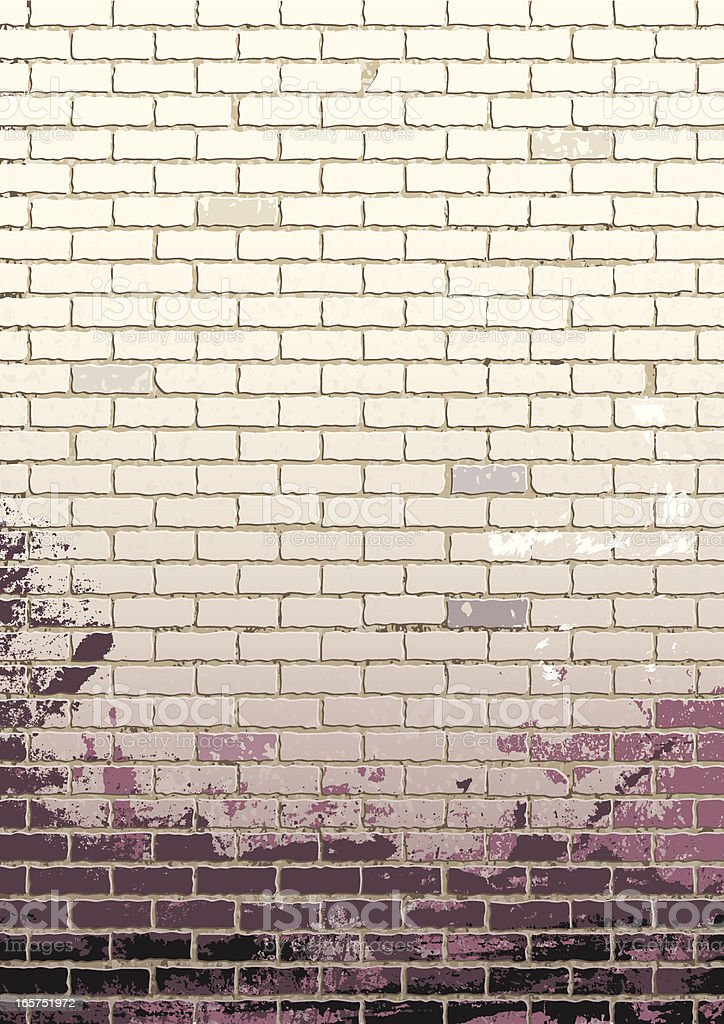 Die weisse Mauer royalty-free stock vector art