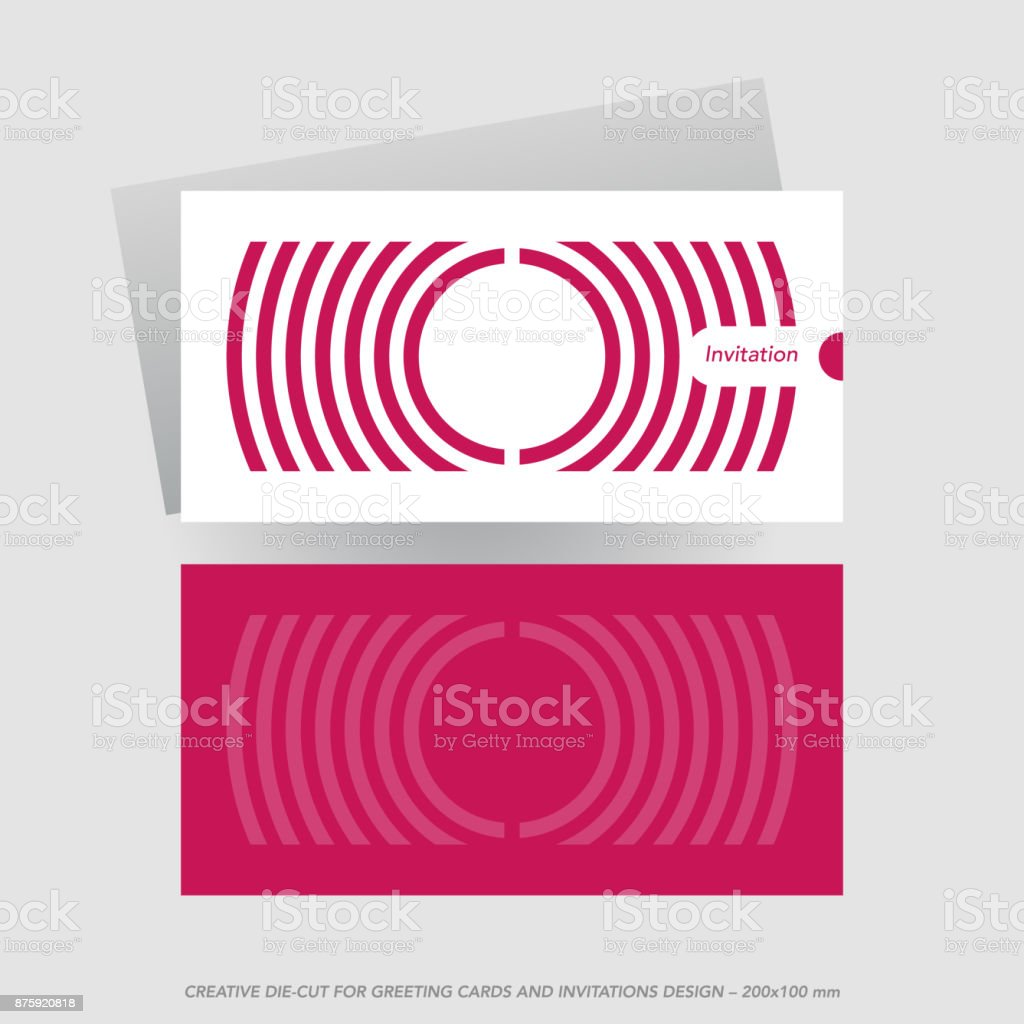Diecut greeting card cutting envelope template stock vector art circle typescript uk business finance and industry competition round die cut greeting card reheart Choice Image