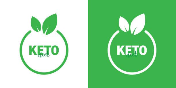 ilustrações, clipart, desenhos animados e ícones de projeto da insígnia da dieta de keto - dieta paleo