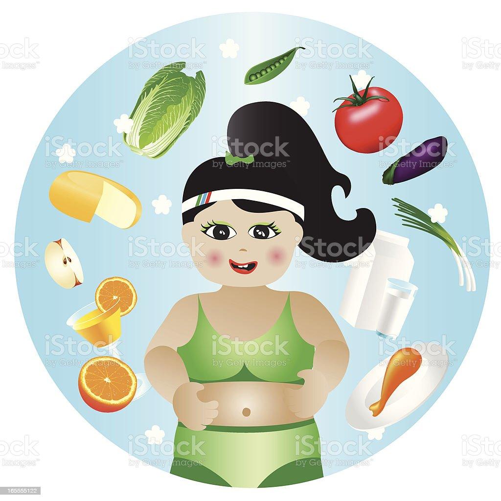 diet time_03 vector art illustration