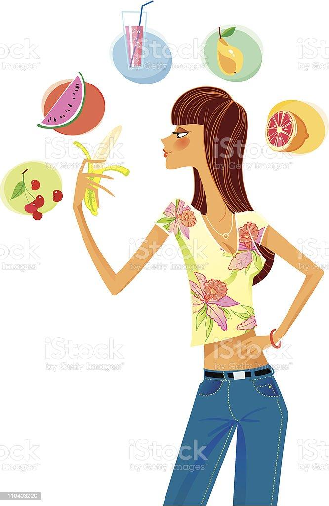 Diet royalty-free stock vector art