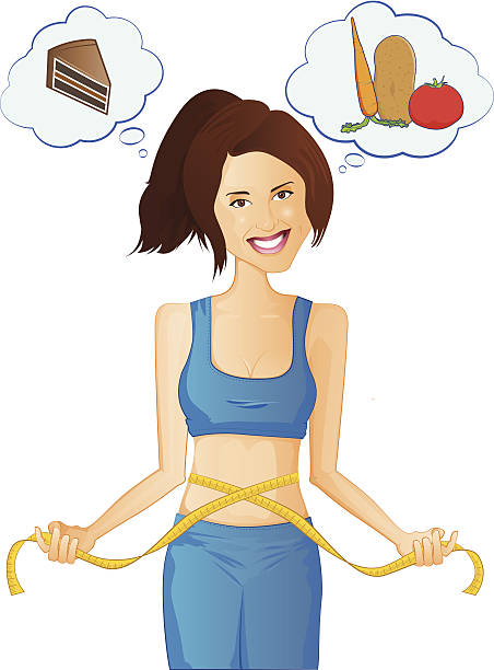 Dieting Illustration vector art illustration