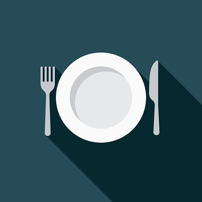 Dieting Weight Loss Flat Design Icon